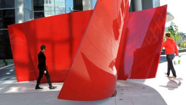 Approaching Red Sculpture