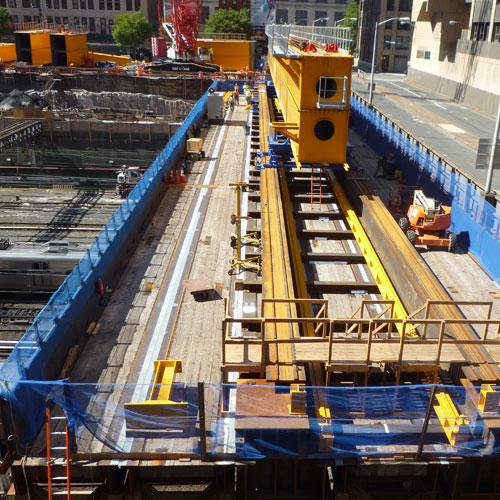 Concrete span installation for The Manhattan West Development underway