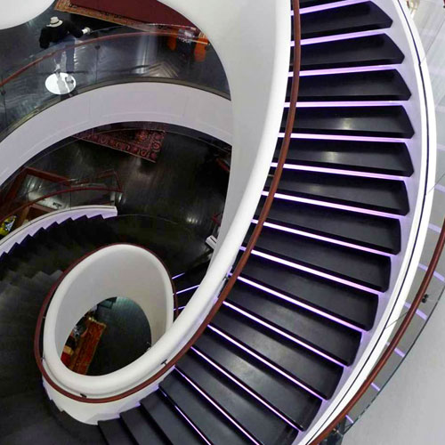 Stairs are the Crown Jewel at 5th Avenue Tommy Hilfiger Store