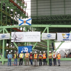 Walters Installs Final Truss at the Shipyards