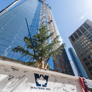Topping off celebration for Brookfield Place Calgary