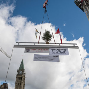 West Block Rehabilitation Project Topping Off